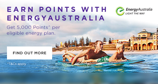 Earn Points with EnergyAustralia, find out more.