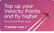 Turn your credit or charge card points into velocity points and receive a 15% bonus. Terms and conditions apply..