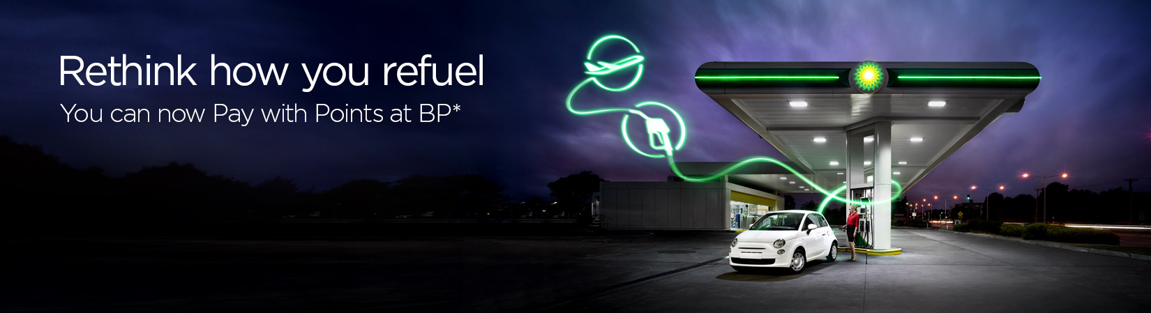 Fill up and fly. Velocity has landed at BP.